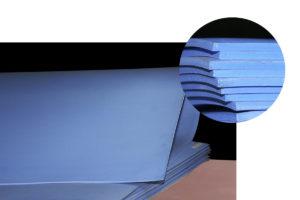 Folha de Teflon com Carga - Marrom/Azul/Branca